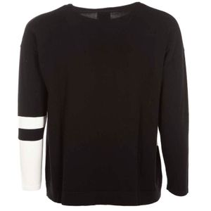 Two-tone pullover in Aire stretch viscose