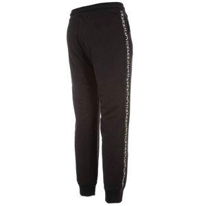 Pantalone jogger felpato con bande