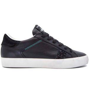 Sneakers Low Top Distressed nera