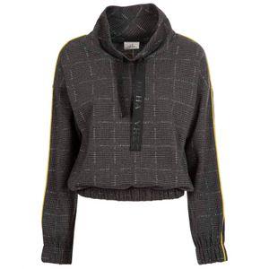 Gray checked sweatshirt with lurex