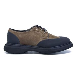 3 eyelets lace-up in suede