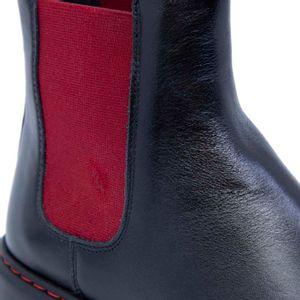 Dylan black and red ankle boot