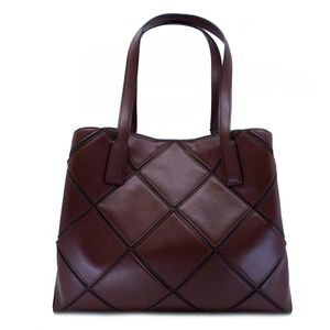 Shopper bag with Borgo intarsia