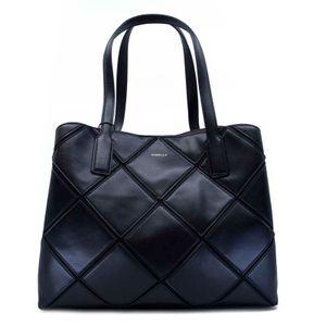 Black shopper bag with Borgo inlays