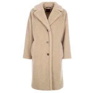 Salmon wool teddy coat