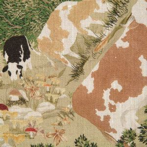 Walser tablecloth in printed linen