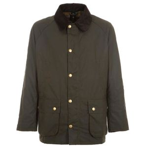 Ashby jacket in green waxed cotton