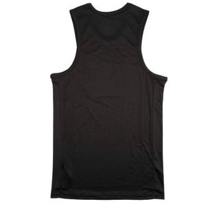 Black tank top with white mustache