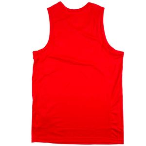 Red dri-fit tank top with mustache