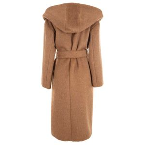 Double-breasted coat in Egeria alpaca
