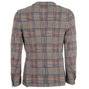 Checked stretch cotton jacket