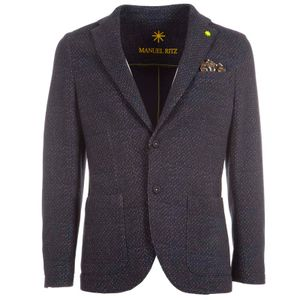 Blue polka dot fleece cotton jacket