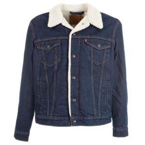 Denim jacket with teddy lining