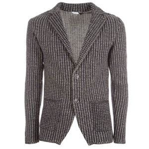 Two-button cotton knit jacket