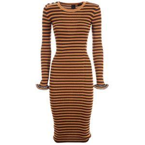 Striped wool knit dress