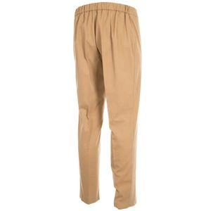 Beige slim fit pants Red