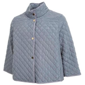 Pantone blue quilted down jacket