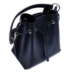 Black faux leather bucket