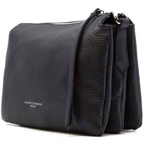 Three leather clutch bag