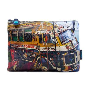 Beyonce clutch printed in leather