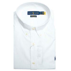 Custom fit white shirt with logo