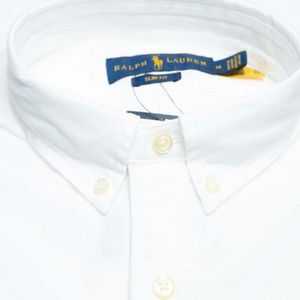 Slim fit shirt in pique cotton with logo