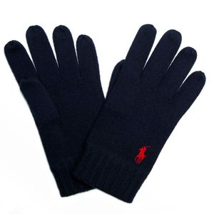 Wool gloves with red pony