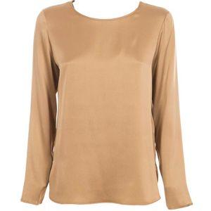 Moldava Beige silk satin blouse