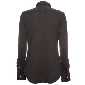 Oxford shirt in black cotton knit