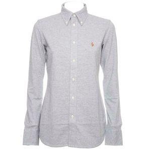 Gray Cotton Knitted Oxford Shirt