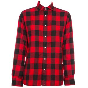 Oversized checked cotton shirt