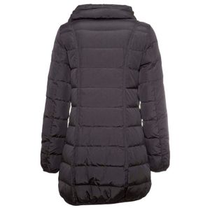 Long black quilted down jacket Swan