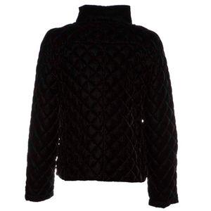 Quilted down jacket in Arca velvet