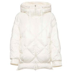 Oval quilted down jacket