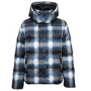 Padded checked jacket