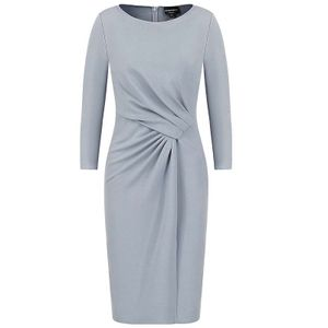 Dress with drapery in Milano fabric