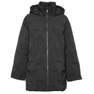 Oversized padded jacket with detachable hood