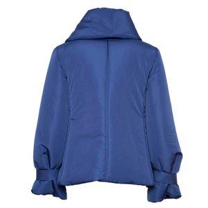 Oversized short padded jacket with ribbons