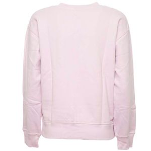 Pink crewneck sweatshirt with logo box