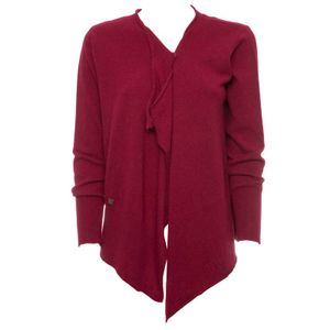 Two-button burgundy cardigan