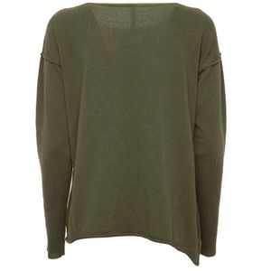 Green wool and cashmere sweater