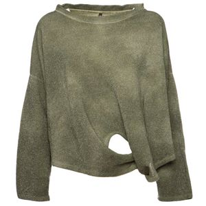 Green oversized sweater with lurex