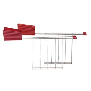 Set of two red Plissè toaster tongs