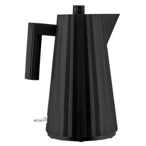 Large black Plissè electric kettle