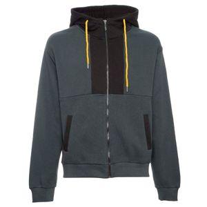 Color block jumpsuit in fleece cotton
