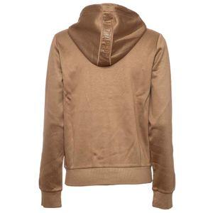 Golden scuba sweatshirt with hood