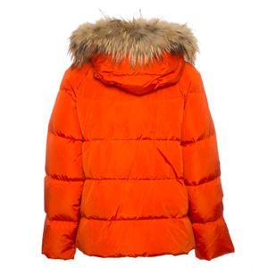 Orsola orange goose down jacket