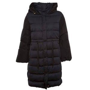 Long black Romana padded down jacket