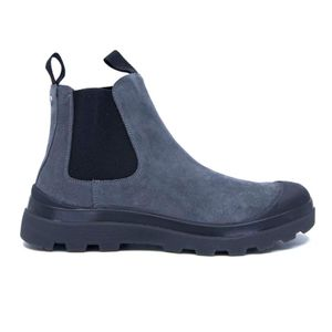P03 ankle boot in gray suede