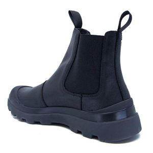 P03 ankle boot in black leather
